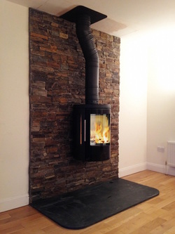 Black Slate Hearth Stone 900 X 600 X30mm Eazyclad Stone