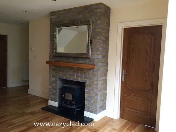 Brick Slips For Covering Fireplaces Eazyclad Stone Cladding